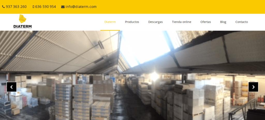 Página web de diaterm.com