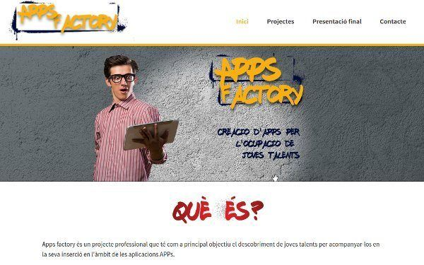 Página web de apps factory
