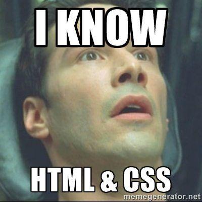Ya sé HTML y CSS
