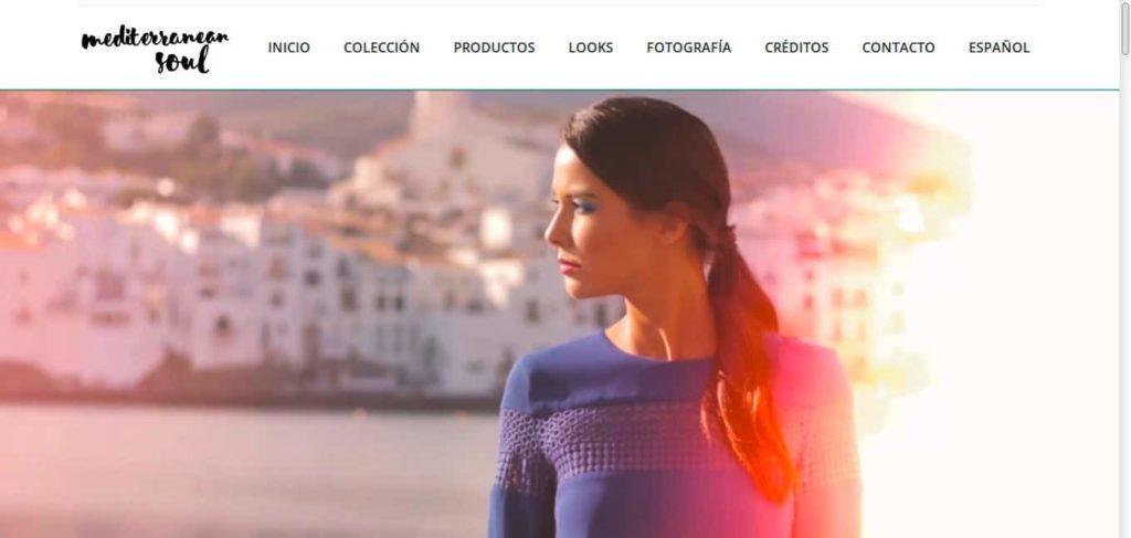 Pantallazo página web de Cazcarra, tenimage, nueva colección