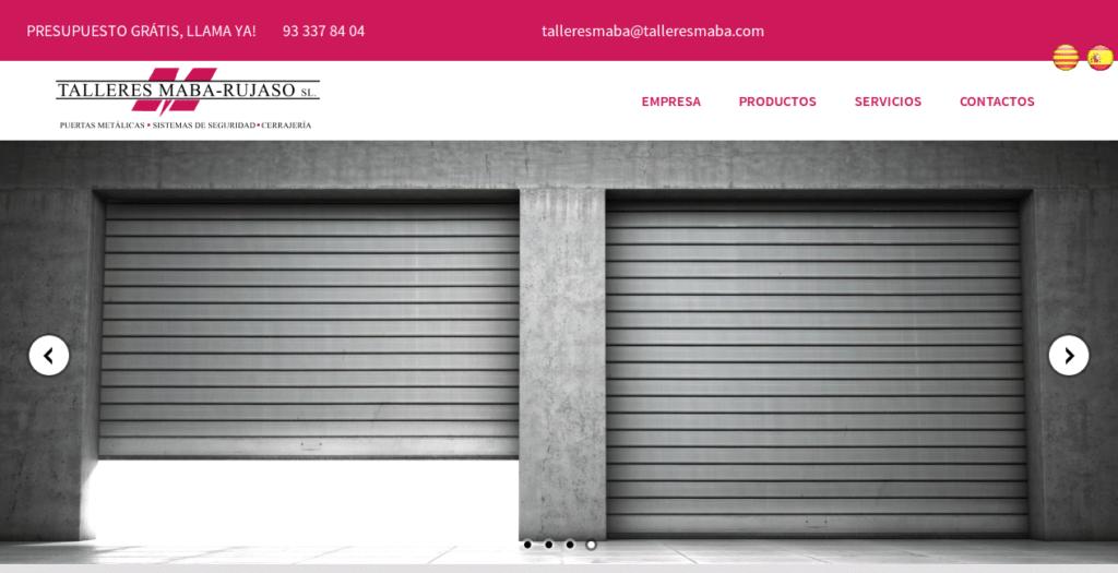 Página web de talleresmaba.com