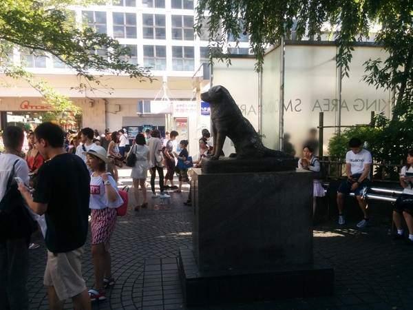 Estatua del perro en Shinjuku