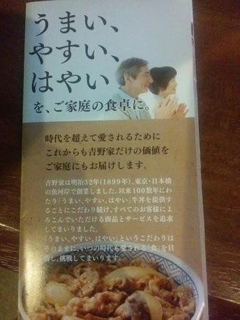 Folleto informativo sobre comida rápida japonesa