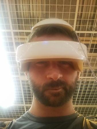 Máquina para masajear la cabeza en Japón