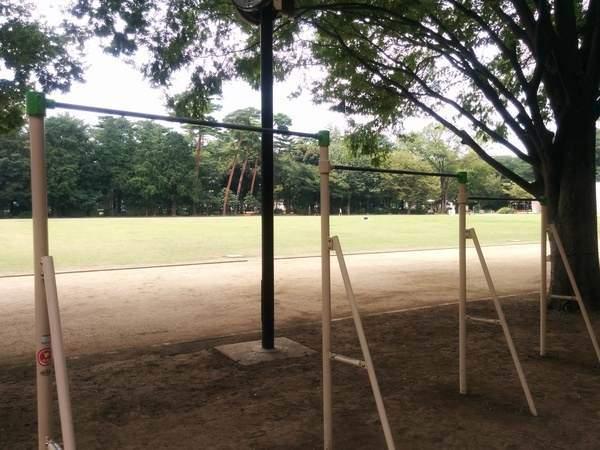 Parque para hacer deporte en los alrededores el museo Ghibli, en Tokyo