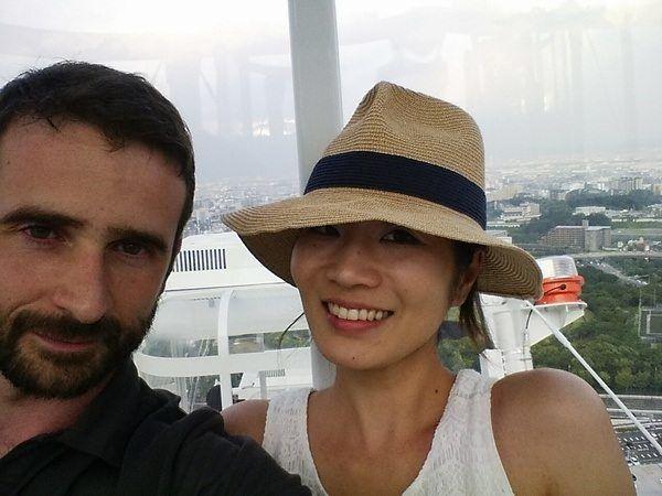 Kyoko y yo en Noria en Osaka