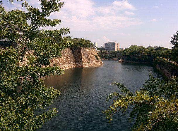 Lago alrededor del Osaka Jo, en Osaka