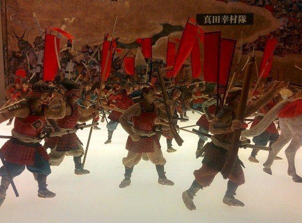 Maqueta con Samurais con Escopeta, en el Osaka Jo