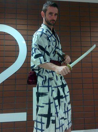 Traje de Samurai en la Tokyo Tower