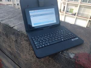 Ordenador portatil hecho con raspberry pi