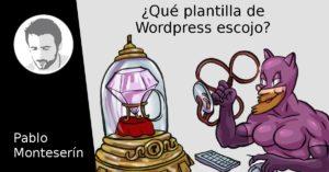 Escoger una plantilla de WordPress