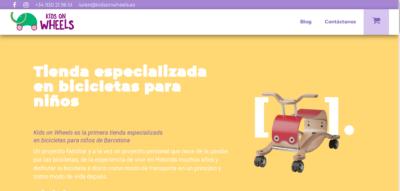Página de kidsonwheels.es