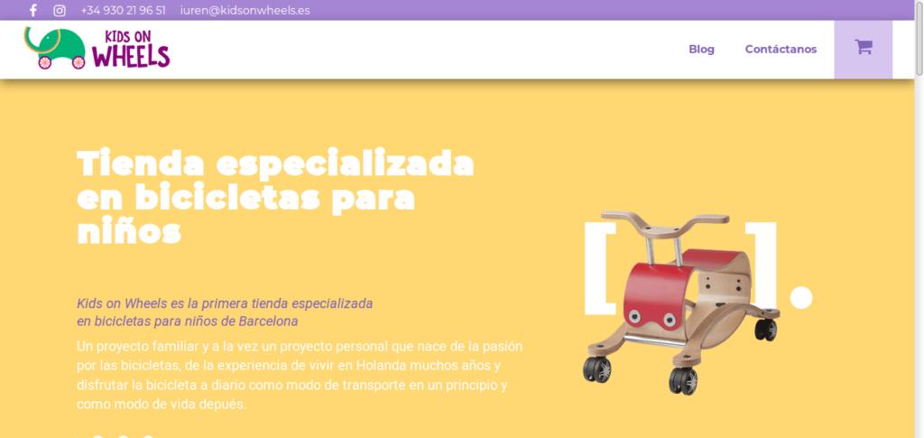 Página web de kidsonwheels.com