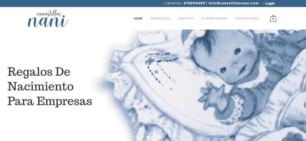 Página web de Canastillas Nani