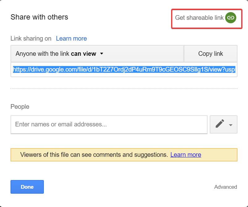 Cómo enlazar con imágenes que tienes almacenadas en Google Drive