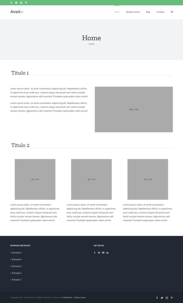 Cómo usar la plantilla Avada para Wordpress 4