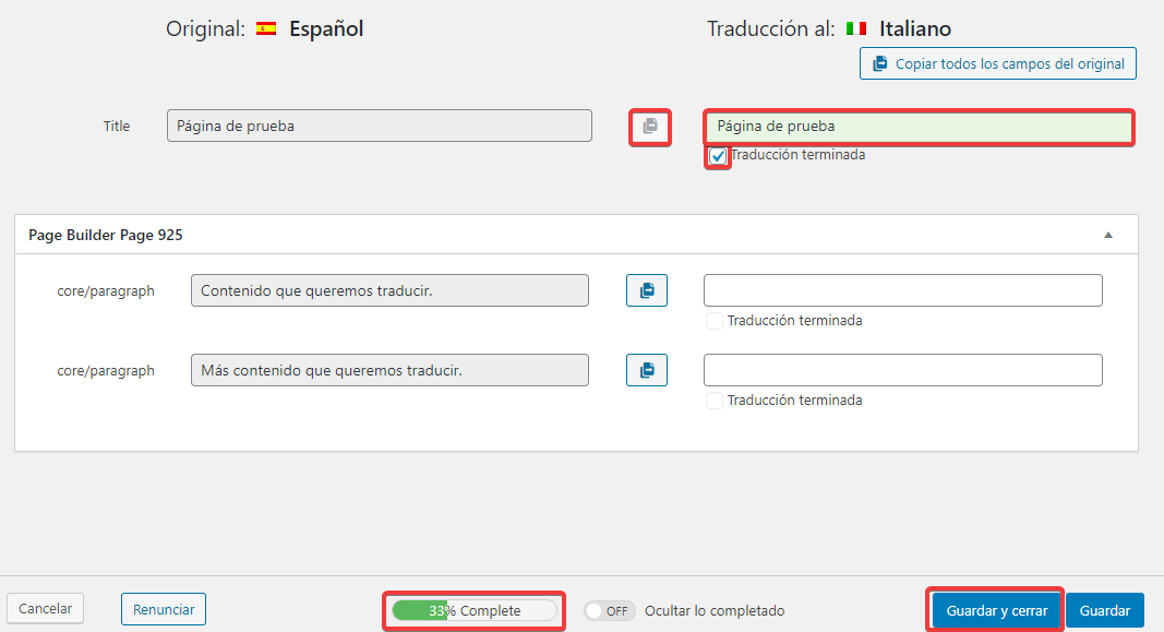 ¿Cómo traducir mi página con WPML? 2