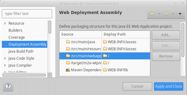 web deployment assembly webapp