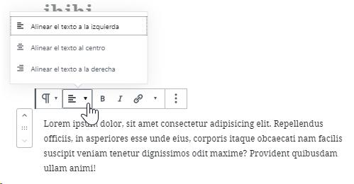 Editor de contenido Gutenberg para Wordpress 14