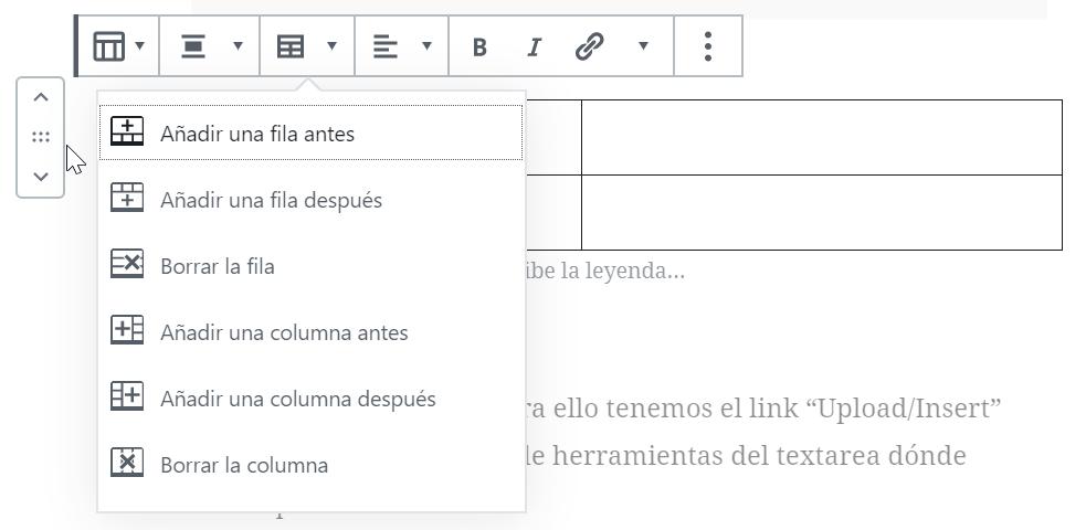 Editor de contenido Gutenberg para Wordpress 31