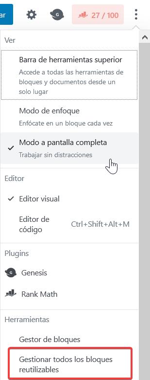 Editor de contenido Gutenberg para Wordpress 45