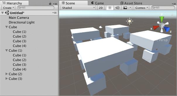 mesas en unity3d