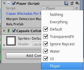 layer mask con unity 3d