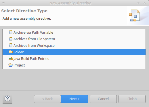 web deployment-assembly-folder