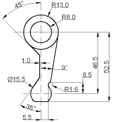 Cómo crear tangentes en Autocad 3