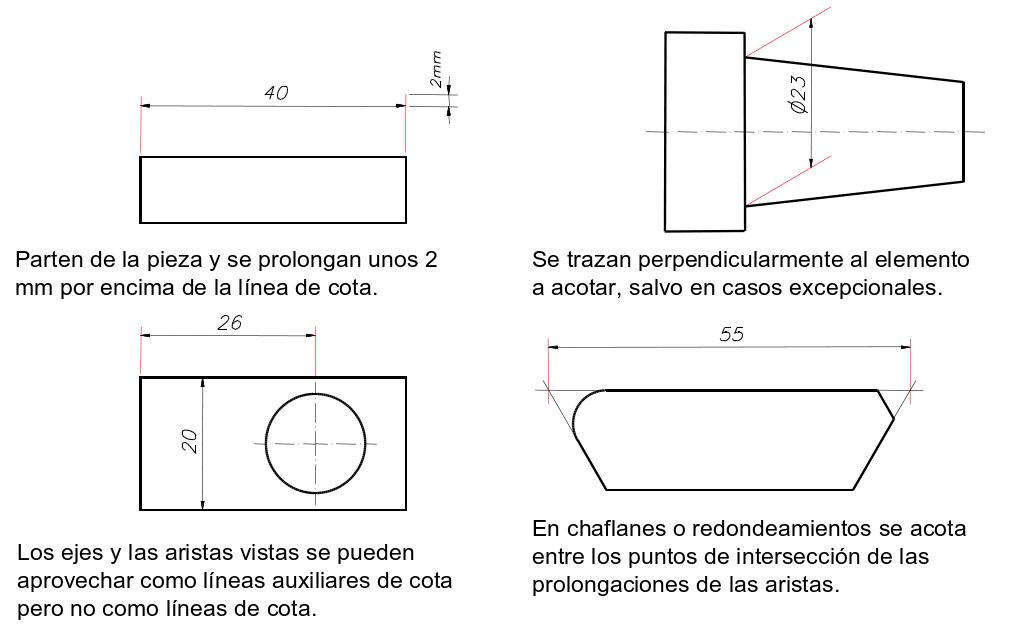 Dimensionamiento o acotación en Autocad 12