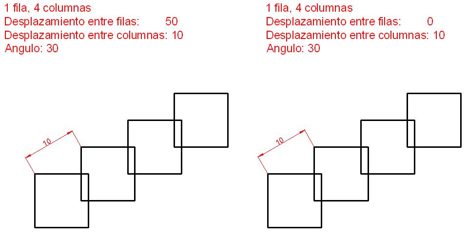 Uso de la matriz rectangular 2