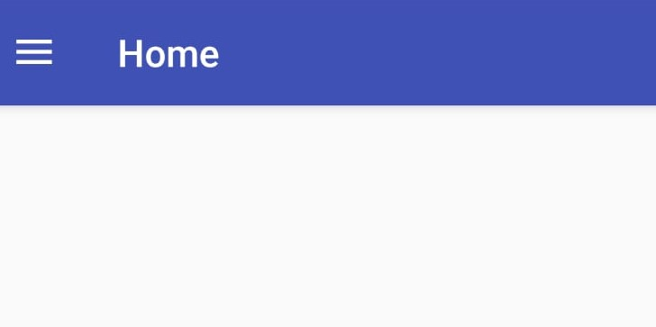 Navigation Drawer toolbar en Android
