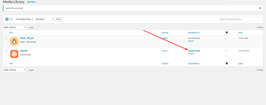 Menú de ajustes (Settings) en Wordpress 1